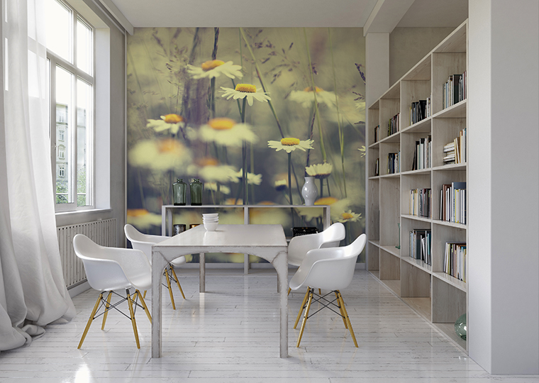 PIXERS Wall Mural Camomiles