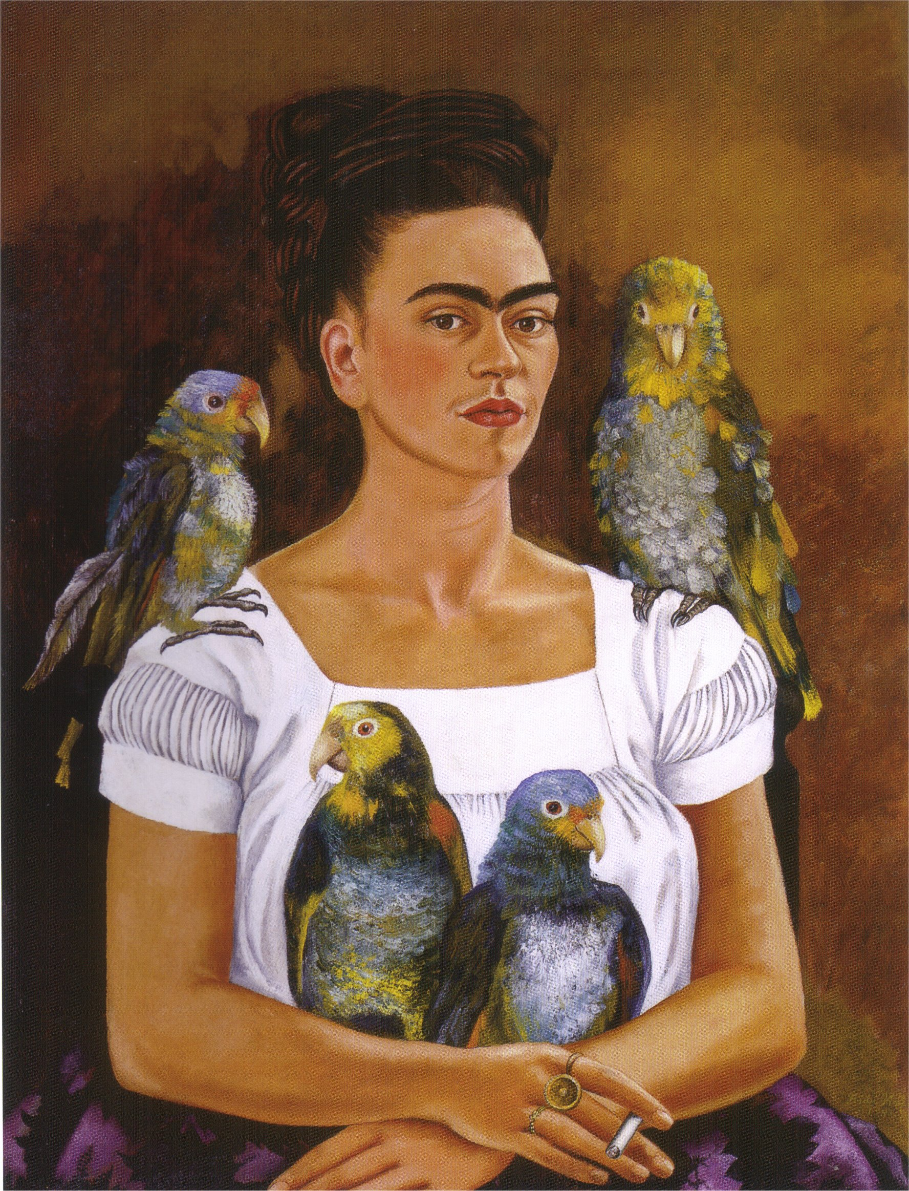 Me and My Parrot, 1941, Frida Kahlo