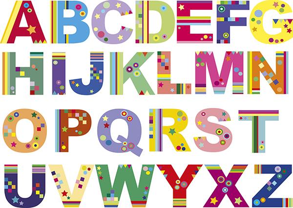 Naklejki Alfabet PIXERS