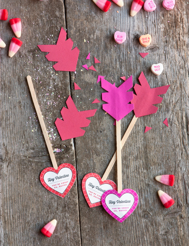 Love Arrows DIY Valentine's Gift - PIXERS blog