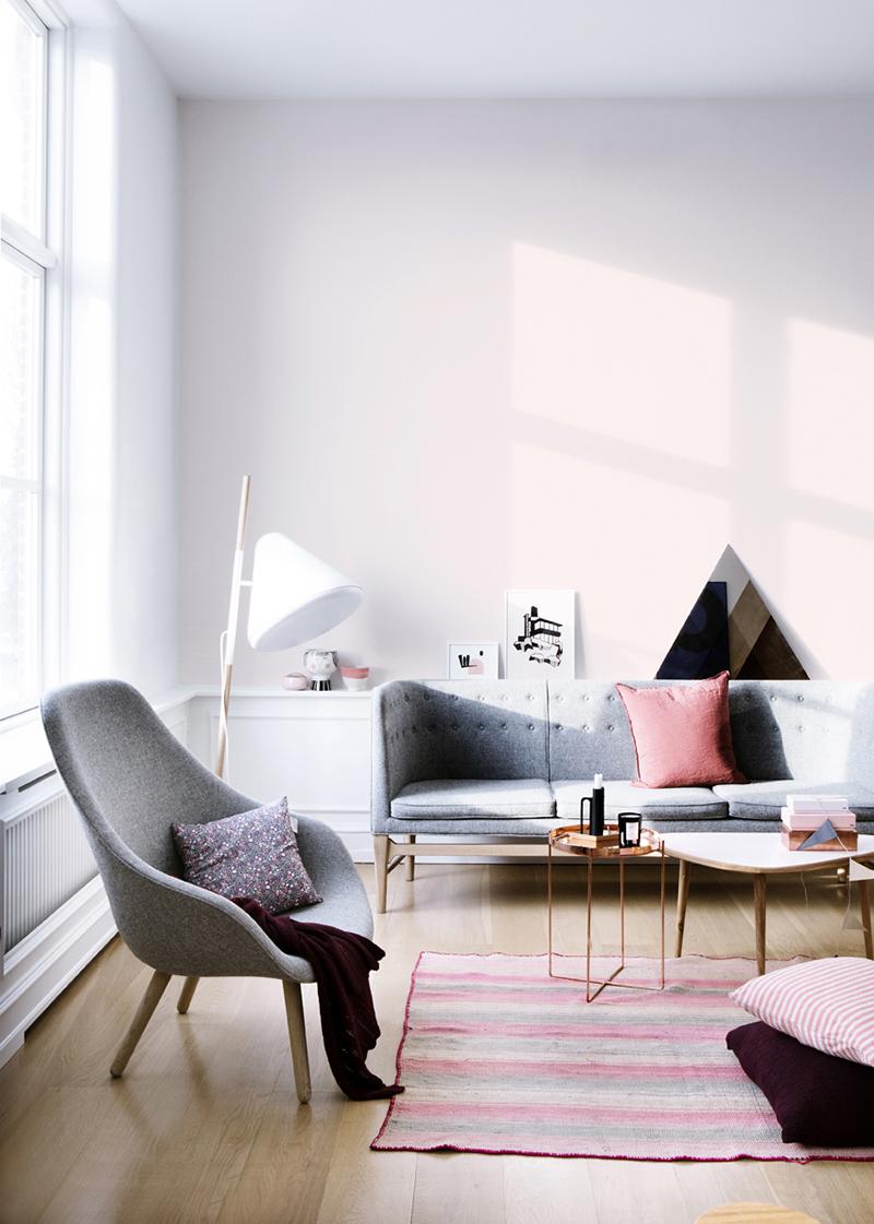 Lilac Walls Living Room