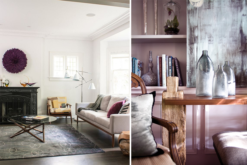 Discover Endless Possibilities Of Colour Gray In Interior Design - Grey and lilac living room