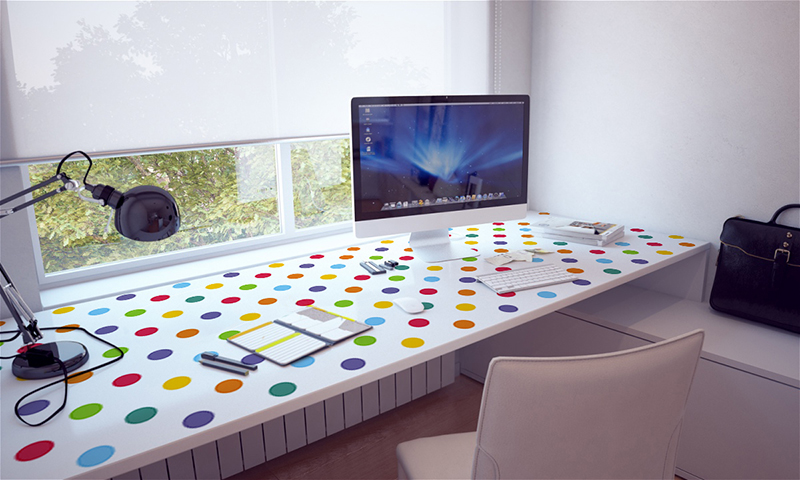 PIXERS Furniture Sticker – for a desk