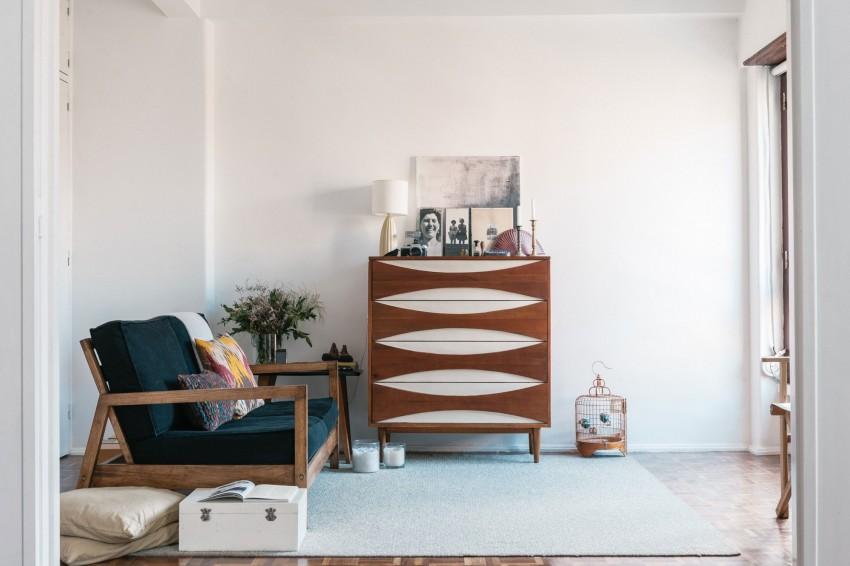 Mid Century White Living Room - PIXERs blog