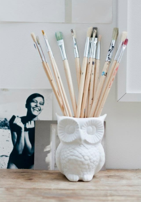 owl pencils holder