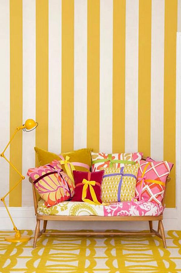 Żółte Paski Fototapeta PIXERS