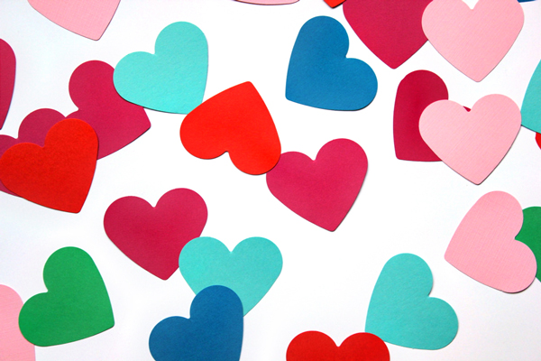 Paper Hearts DIY Valentine's Gift