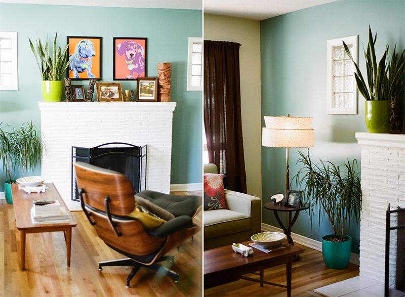Salon w stylu mid-centruy - PIXERS blog